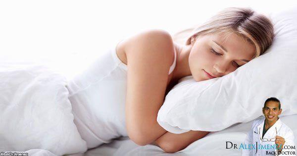 posiciones del sueño del sitio Imagen de dolor de espalda