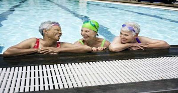blog picture of elderly woman in swimming pool