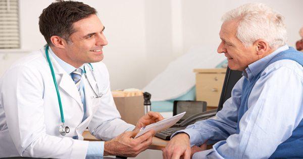 blog picture of doctor and elderly patient speak