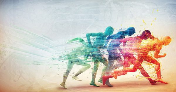 blog de imágenes de ilustración multicolor de corredores