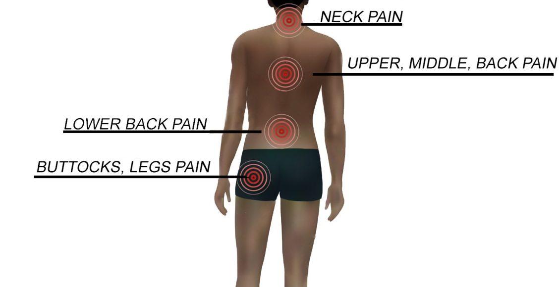 blog de ilustración de personas con diversos tipos de dolor de espalda