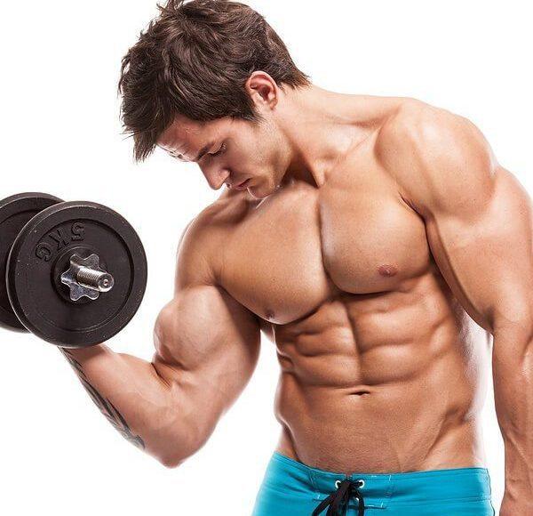 Joven, hombre, rizo, rizos, no, camisa, todos, músculos