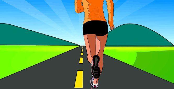 illustration of woman running