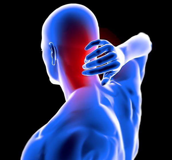 man anatomy neck pain