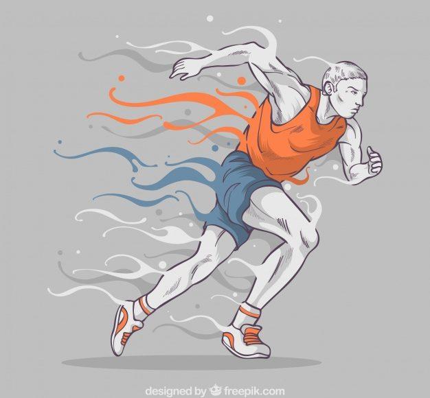 illustration of man running