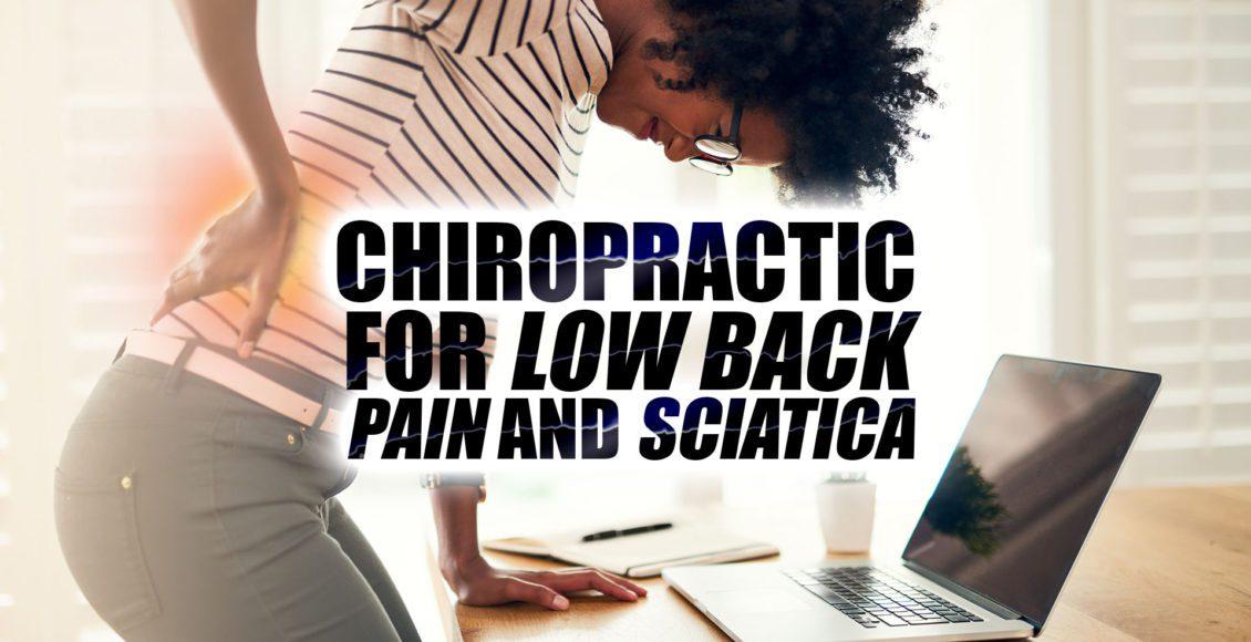 Quiropráctica para el dolor lumbar y la imagen de la portada de la ciática