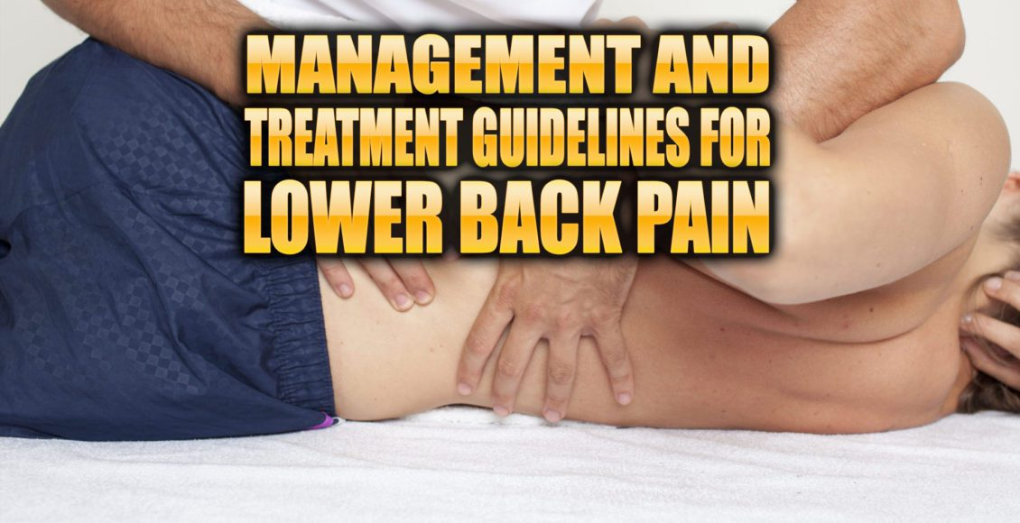 Management and Treatment Guidelines for Low Back Pain   El Paso, TX Chiropractor