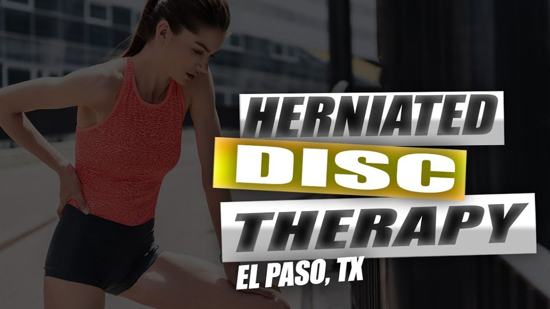 Hernia discal quiropráctica de alivio el paso tx.