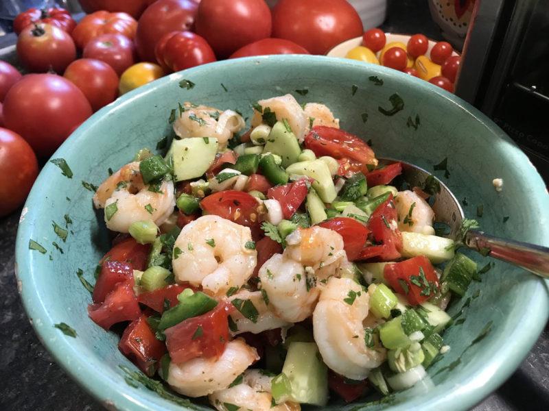 Fresh Shrimp & Veggies Ceviche