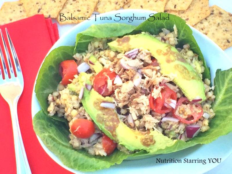 Balsamic Tuna Sorghum Salad