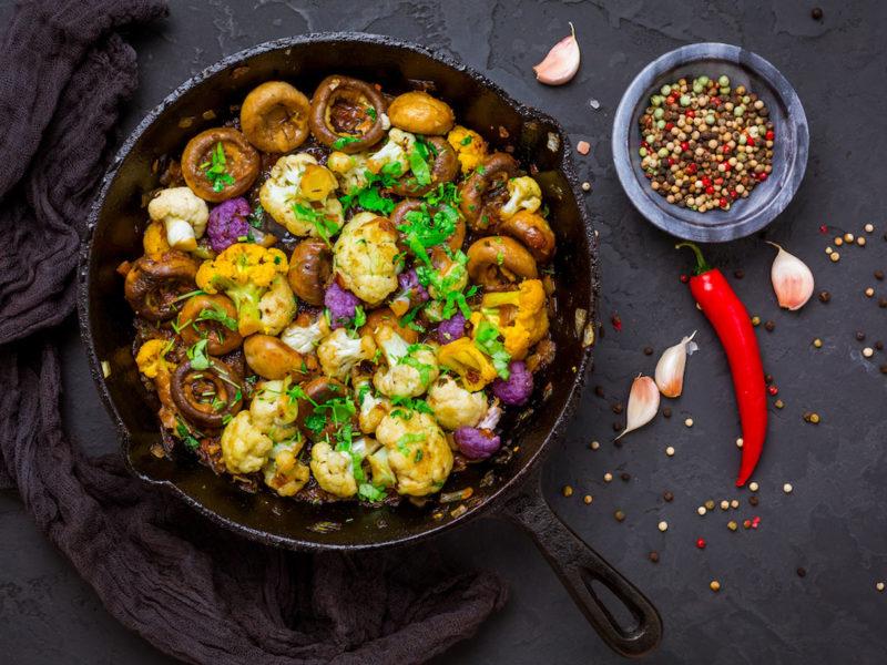 Fragrant Mushroom Cauliflower Skillet